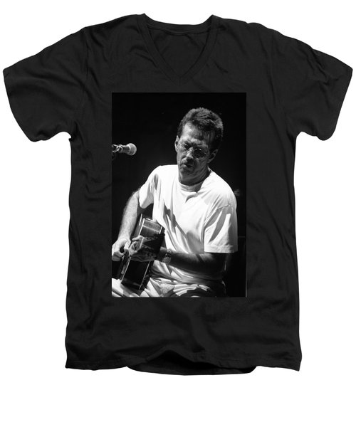 Eric Clapton 003 Men's V-Neck T-Shirt by Timothy Bischoff