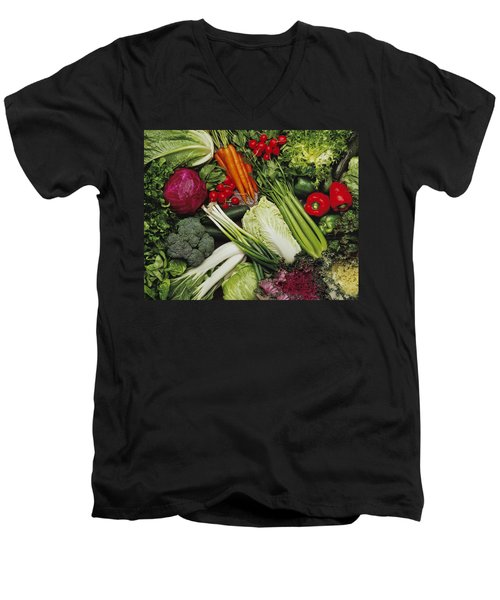 Food- Produce, Mixed Vegetables Men's V-Neck T-Shirt by Ed Young