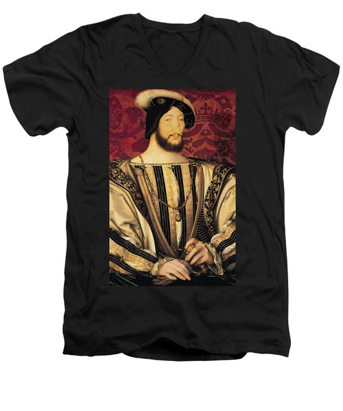 Francois I Men's V-Neck T-Shirt by Jean Clouet
