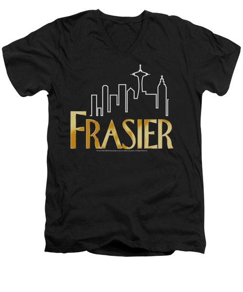 Frasier - Frasier Logo Men's V-Neck T-Shirt by Brand A