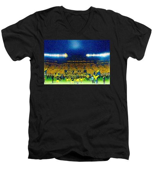 Glory At The Big House Men's V-Neck T-Shirt by John Farr