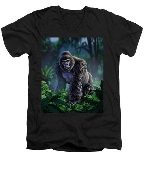 Guardian Men's V-Neck T-Shirt by Jerry LoFaro