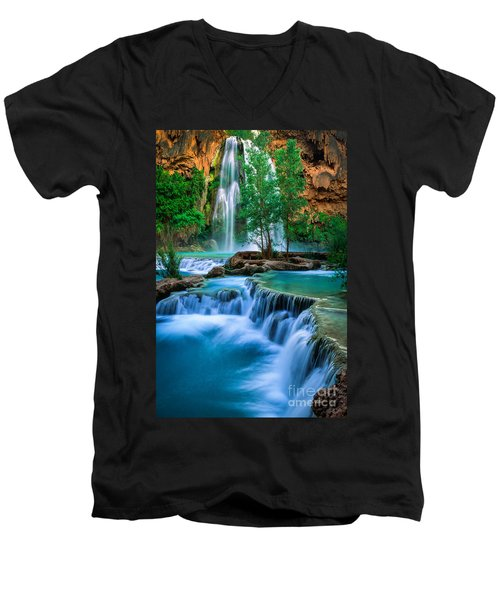 Havasu Paradise Men's V-Neck T-Shirt by Inge Johnsson