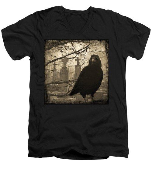 Her Graveyard Men's V-Neck T-Shirt by Gothicolors Donna