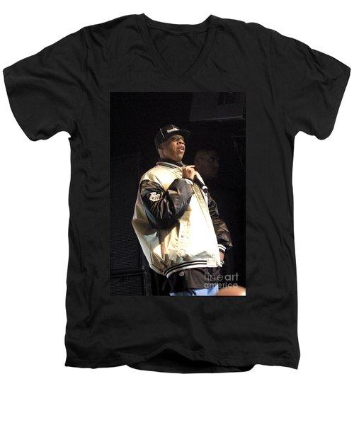 Jay Z Men's V-Neck T-Shirt by Concert Photos