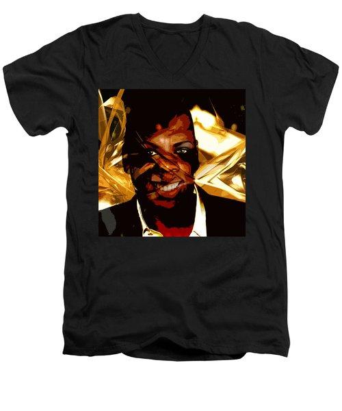 Jay-z Knowles Men's V-Neck T-Shirt by Jean raphael Fischer