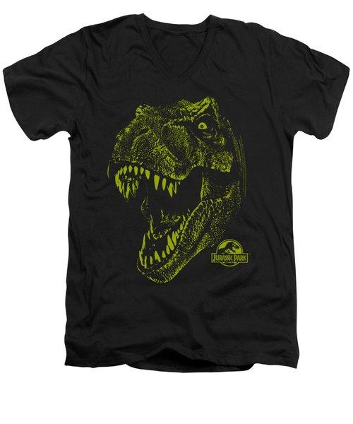 Jurassic Park - Rex Mount Men's V-Neck T-Shirt by Brand A