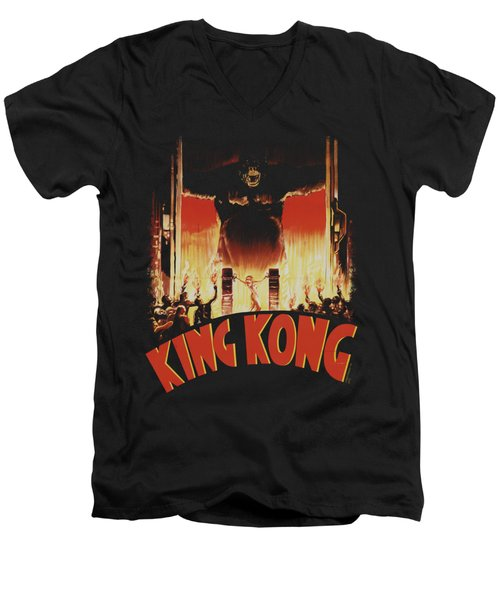 King Kong - At The Gates Men's V-Neck T-Shirt by Brand A