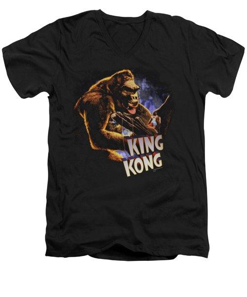 King Kong - Kong And Ann Men's V-Neck T-Shirt by Brand A