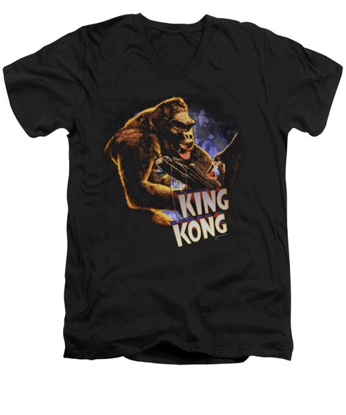 King Kong - Kong And Ann Men's V-Neck T-Shirt by Brand A