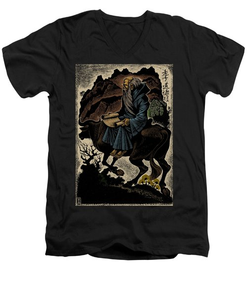 Men's V-Neck T-Shirt featuring the photograph Laozi, Ancient Chinese Philosopher by Science Source