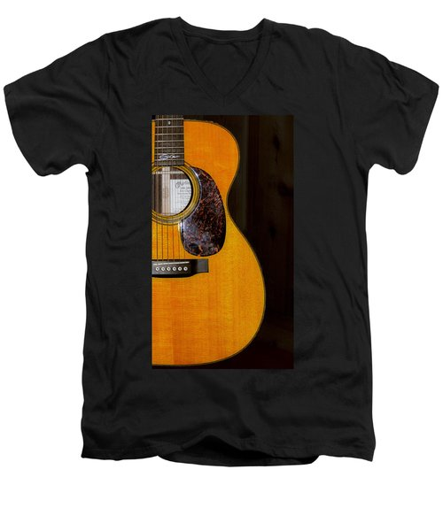 Martin Guitar  Men's V-Neck T-Shirt by Bill Cannon