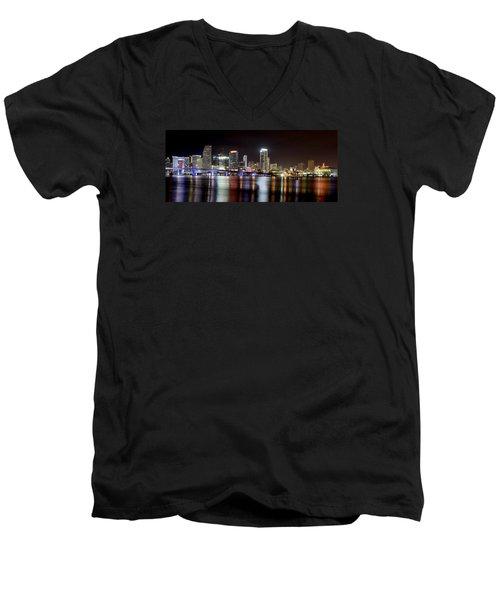 Miami - Florida  Men's V-Neck T-Shirt by Brendan Reals