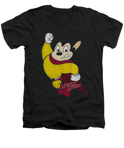 Mighty Mouse - Classic Hero Men's V-Neck T-Shirt by Brand A