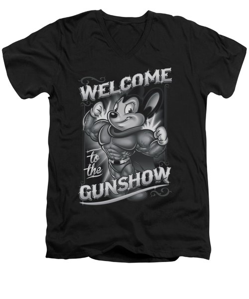 Mighty Mouse - Mighty Gunshow Men's V-Neck T-Shirt by Brand A