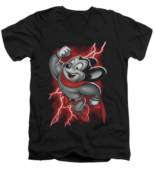 Mighty Mouse - Mighty Storm Men's V-Neck T-Shirt by Brand A