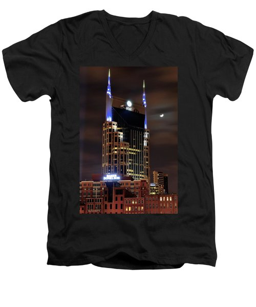 Nashville Men's V-Neck T-Shirt by Frozen in Time Fine Art Photography