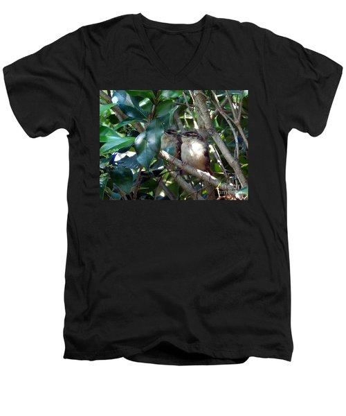 Now What Men's V-Neck T-Shirt by Skip Willits
