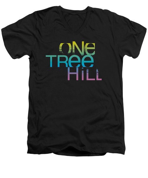 One Tree Hill - Color Blend Logo Men's V-Neck T-Shirt by Brand A