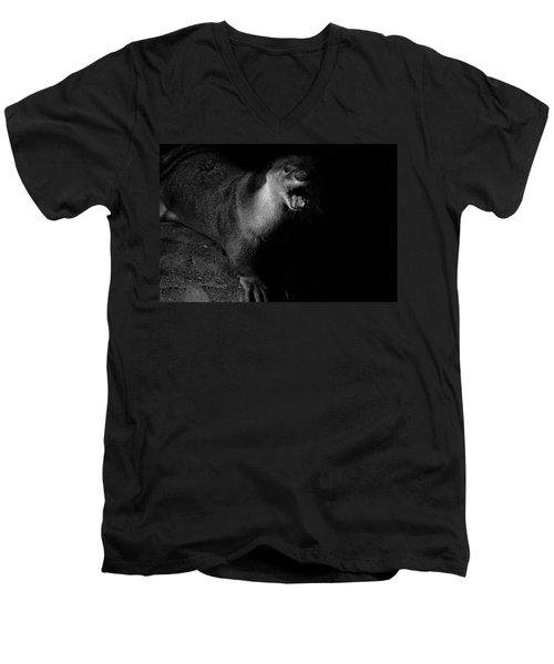Otter Wars Men's V-Neck T-Shirt by Martin Newman