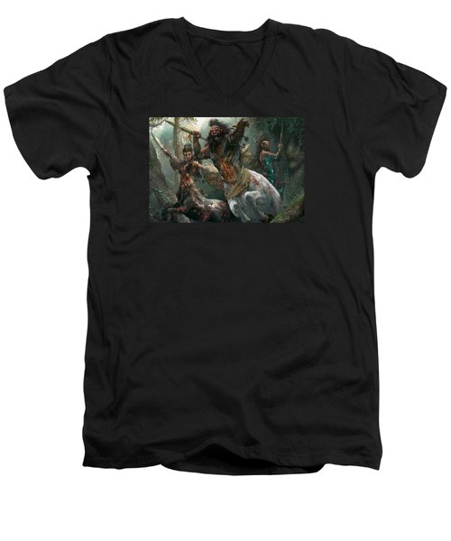 Pheres-band Raiders Men's V-Neck T-Shirt by Ryan Barger