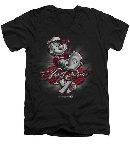 Popeye - Pong Star Men's V-Neck T-Shirt by Brand A