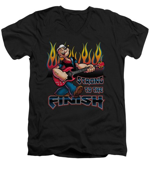 Popeye - Rocks Men's V-Neck T-Shirt by Brand A