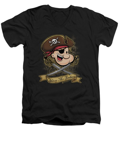 Popeye - Shiver Me Timbers Men's V-Neck T-Shirt by Brand A