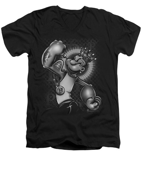 Popeye - Spinach King Men's V-Neck T-Shirt by Brand A