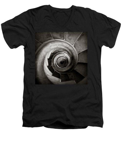 Sagrada Familia Steps Men's V-Neck T-Shirt by Dave Bowman