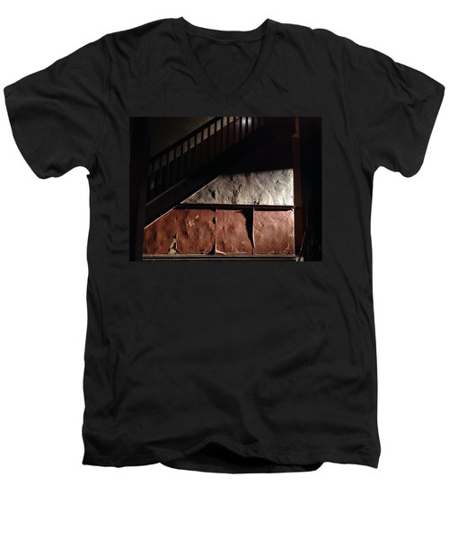 Stairwell Men's V-Neck T-Shirt by H James Hoff