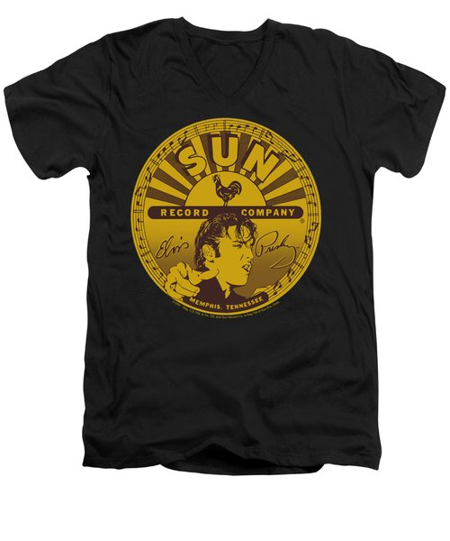 Sun - Elvis Full Sun Label Men's V-Neck T-Shirt by Brand A