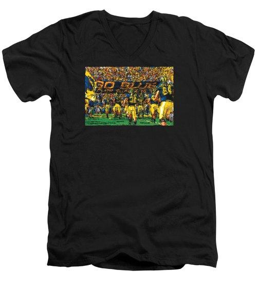 Take The Field Men's V-Neck T-Shirt by John Farr