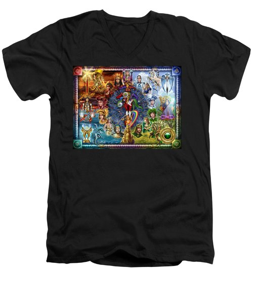 Tarot Of Dreams Men's V-Neck T-Shirt by Ciro Marchetti