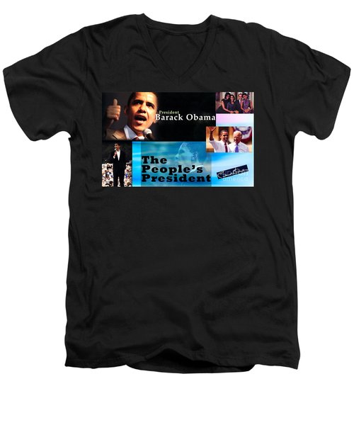 The People's President Still Men's V-Neck T-Shirt by Terry Wallace