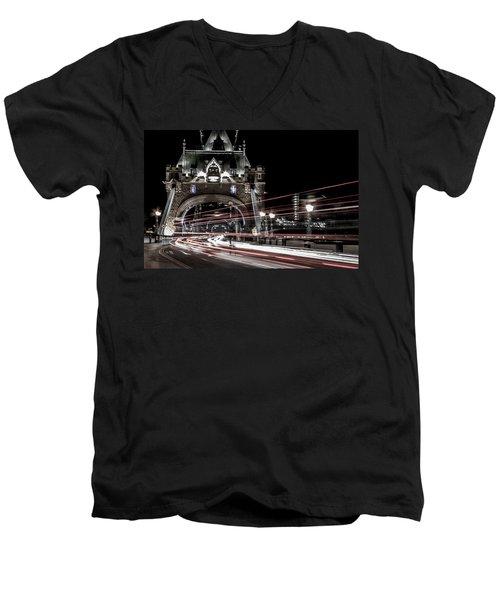 Tower Bridge London Men's V-Neck T-Shirt by Martin Newman