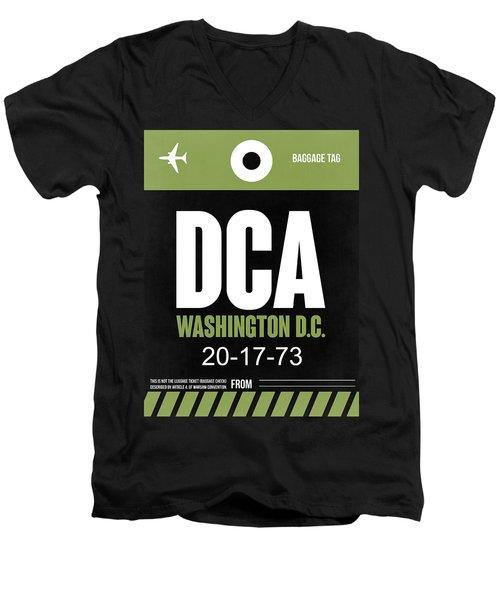 Washington D.c. Airport Poster 2 Men's V-Neck T-Shirt by Naxart Studio