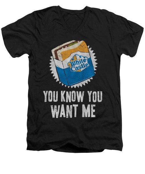 White Castle - Want Me Men's V-Neck T-Shirt by Brand A