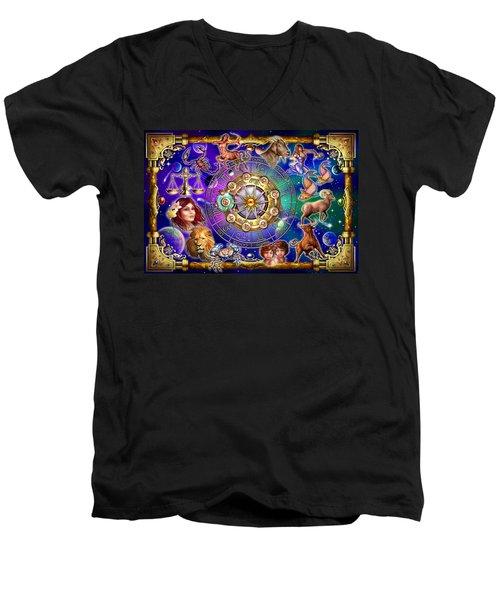 Zodiac 2 Men's V-Neck T-Shirt by Ciro Marchetti