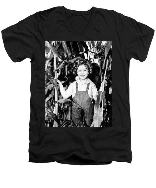 Shirley Temple (1928- ) Men's V-Neck T-Shirt by Granger