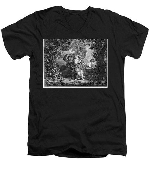 Atalanta And Meleager Men's V-Neck T-Shirt by Granger