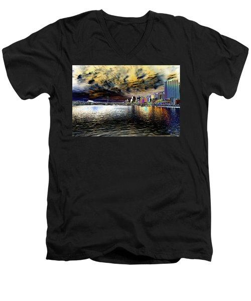 City Of Color Men's V-Neck T-Shirt by Douglas Barnard