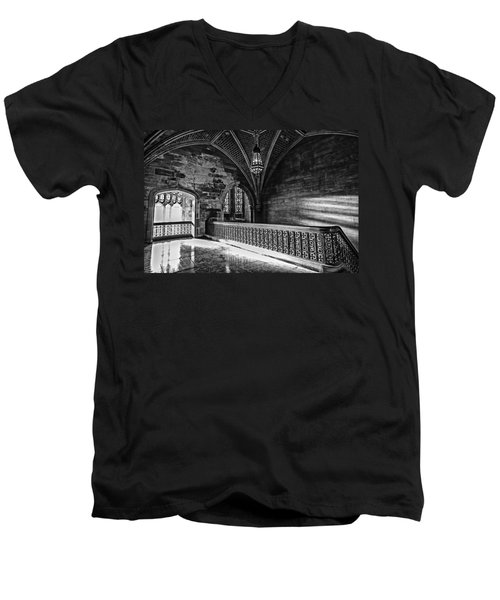 Cold Rock Warm Light Men's V-Neck T-Shirt by CJ Schmit