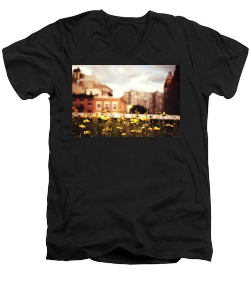 Flowers - High Line Park - New York City Men's V-Neck T-Shirt by Vivienne Gucwa