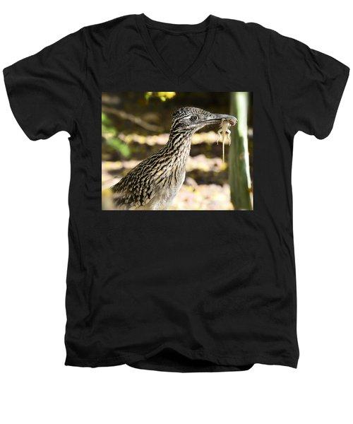 Lunch Anyone Men's V-Neck T-Shirt by Saija  Lehtonen