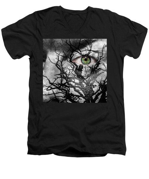 Medusa Tree Men's V-Neck T-Shirt by Semmick Photo