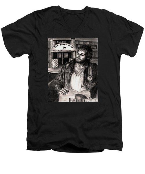 Bruce Springsteen Men's V-Neck T-Shirt by Kathleen Kelly Thompson