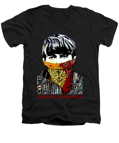 George Harrison Men's V-Neck T-Shirt by RicardMN Photography