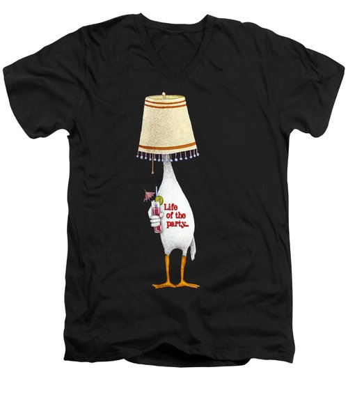 Life Of The Party... Men's V-Neck T-Shirt by Will Bullas