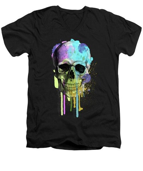 Halloween Men's V-Neck T-Shirt by Mark Ashkenazi